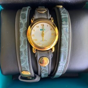 Womens LaMer Wrap Watch Gold Colored Accents